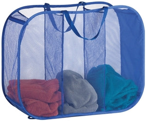 Mesh Fabric Laundry Sorting Bag, Blue