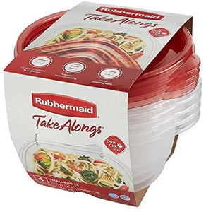 Rubbermaid Take Alongs Food Storage Container Set, 4 Pack