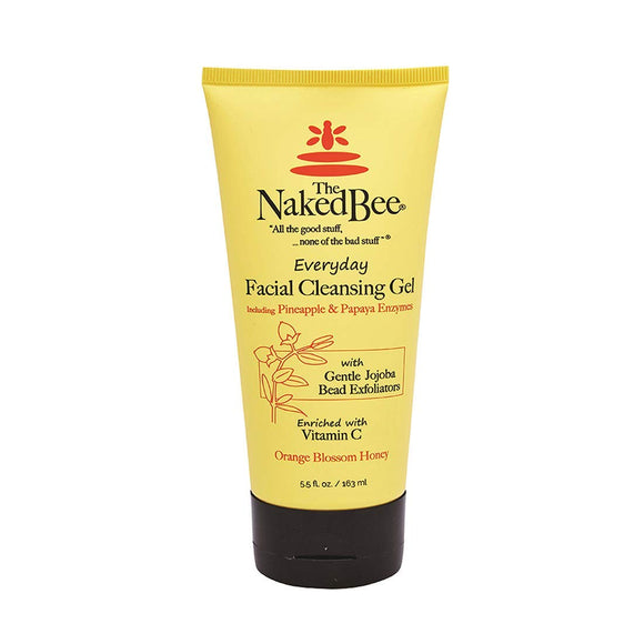 The Naked Bee Everyday Facial Cleansing Gel, Orange Blossom Honey, 5.5 oz