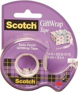 Scotch Gift Wrapping Tape, Satin Finish