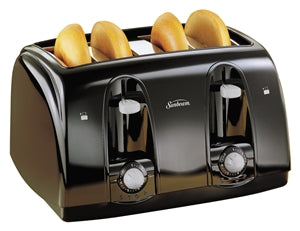 Sunbeam Electric Toaster, 4 Slice Toaster, Black