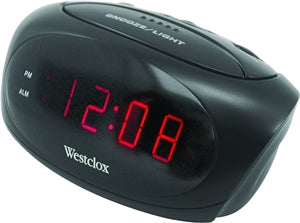 Alarm Clock, LED Display, Black