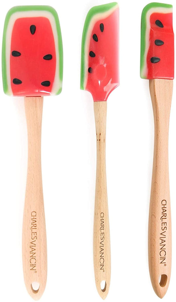 Kitchen Smart Silicon Slotted Spoon, Watermelon