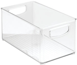iDesign Stackable Kitchen Bin, Clear Plastic