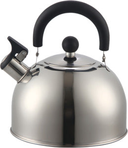 Euro-Ware Whistling Tea Kettle, 2,5 qt Capacity, Stainless Steel