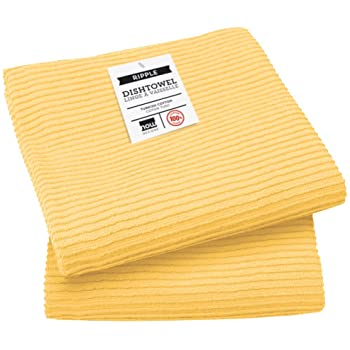 Now Designs Ripple Dishcloths 2 Pack, Yellow