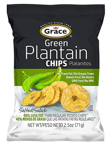 Grace Salted Plantain Chips, 2.5 oz