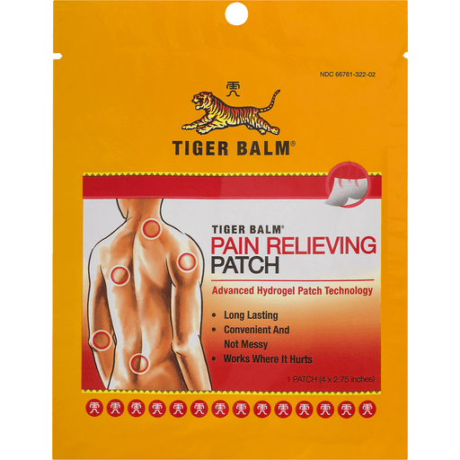 Tiger Balm Pain Relieving Patch, Single Patch