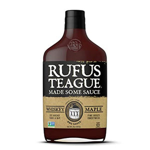 Rufus Teague Whiskey Maple BBQ Sauce, 16 oz