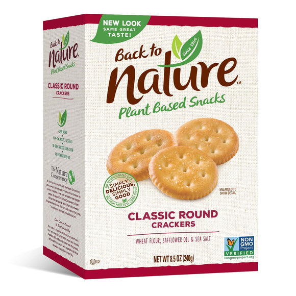Back To Nature Classic Round Crackers, 8.5 oz