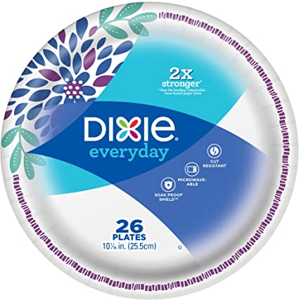 Dixie Paper Plates, Large, 26 Count Pack