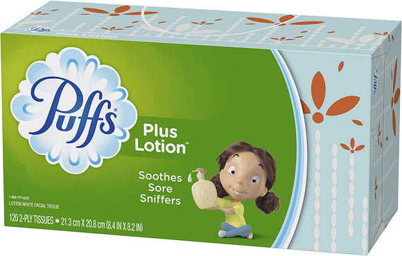 Puffs Plus Facial Tissues, 2-Ply