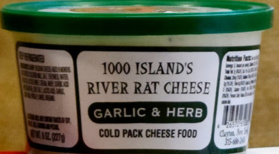 1000's Islands River Rat Cheese Spread - Garlic & Herb, 8oz.