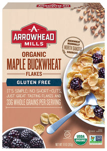Arrowhead Mills, Organic Maple Buckwheat Flakes Cereal, 10oz