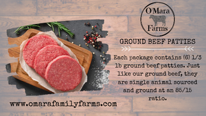 O'Mara Farms Ground Beef Patties