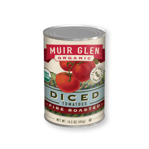 Organic Muir Glen Roasted, Fire Roasted Diced Tomatoes, 28oz