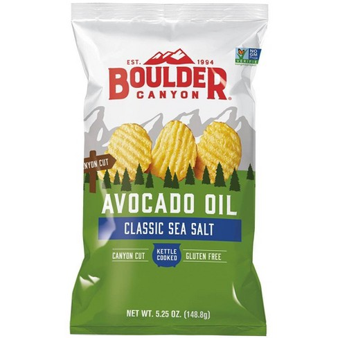 Boulder Canyon, Kettle Cooked Chips, Avocado Oil & Sea Salt, 5.25 oz