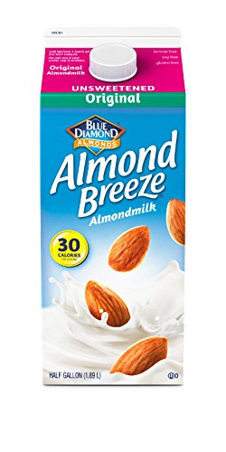 Almond Breeze Almond Milk, Unsweetened Original, Half Gallon