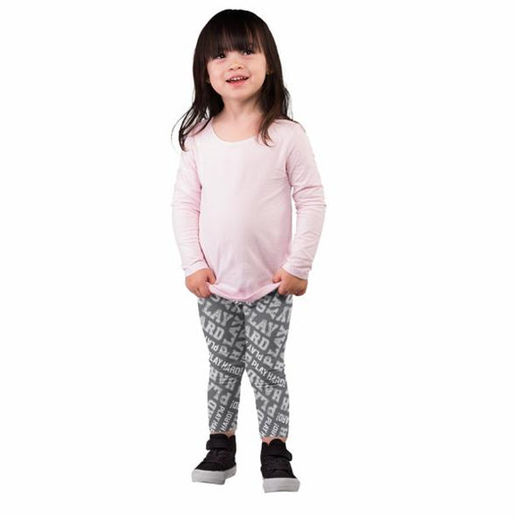 Two Left Feet Trading Co. Kid's Leggings, Play Hard Print