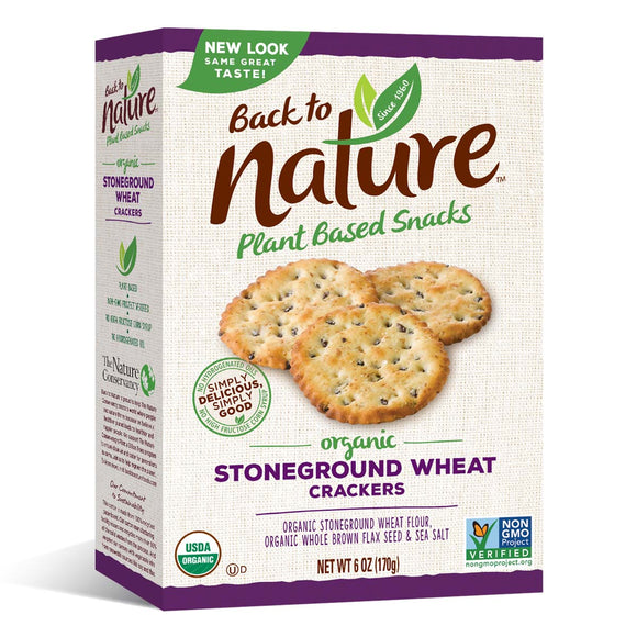 Back to Nature - Organic Stoneground Wheat Crackers, 6 oz