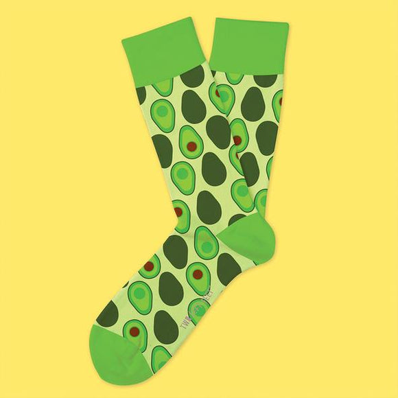 Two Left Feet Sock Co. Adult Socks, Holy Guacamole