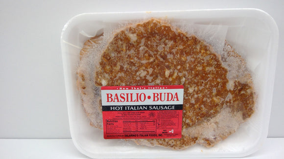 Basilio Buda Hot Italian Sausage Patties, One Pound