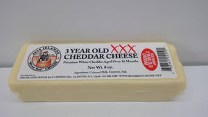 1000 Islands River Rat Cheddar Cheese, 3 Year Old XXX Sharp