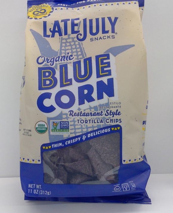 Tortilla Chips Organic Blue Corn