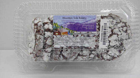 Mountain Side Bakery Chocolate Crinkle Cookies
