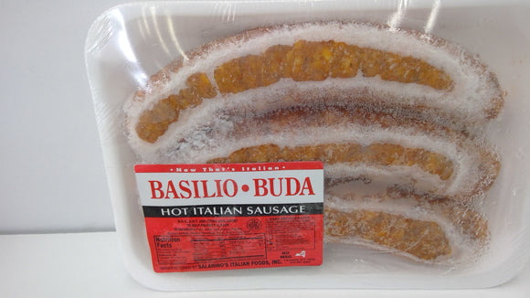 Basilio Buda Hot Italian Sausage Links, One Pound