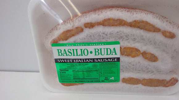 Basilio Buda Sweet Italian Sausage Links, One Pound