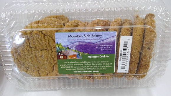 Mountain Side Bakery Molasses Cookies