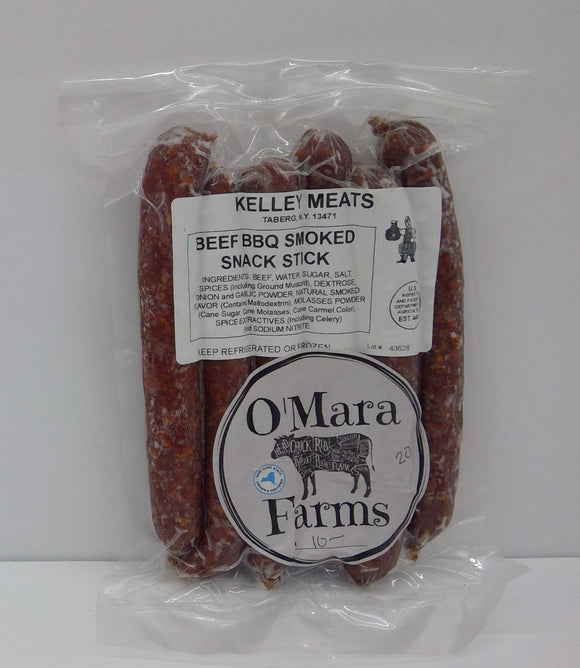 O'Mara Farms Beef BBQ Smoked Snack Stick