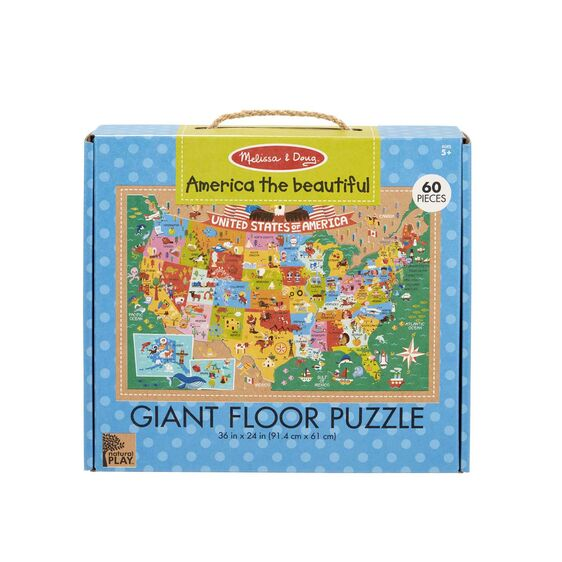 Giant Floor Puzzle, America the Beautiful, 60 piece