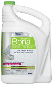 Bona Power Plus Hard Surface Antibacterial Cleaner Refill, 128oz