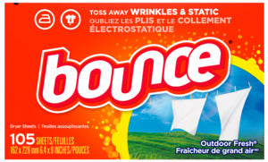 BOUNCE 82355 Fabric Softener Dryer Sheet, Outdoor Fresh