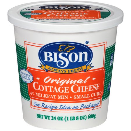 Bison Cottage Cheese, Small Curd, 1lb