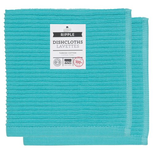 Now Designs Ripple Dishcloths, 2 Pack, Blue
