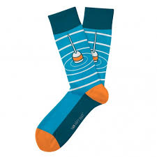Two Left Feet Sock Co. Adult Socks, Gone Fishing
