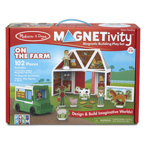 Magnetivity - Magnetic Building Play Set - On the Farm