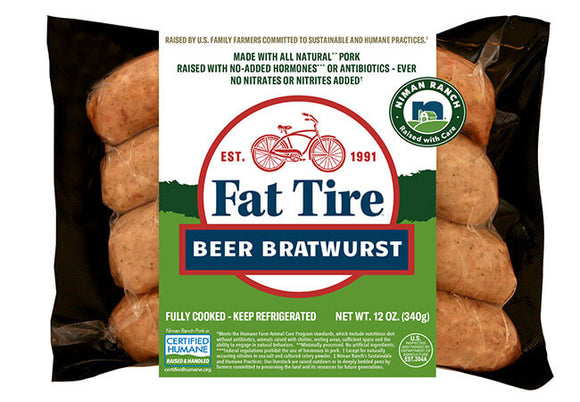 Fat Tire Beer Bratwurst, 12oz