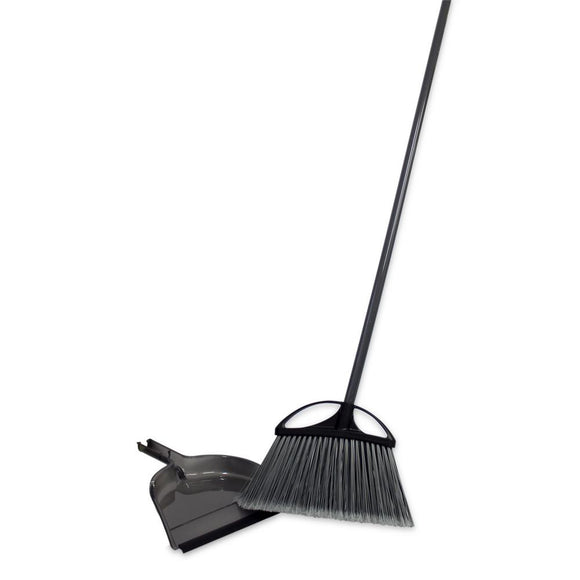Simple Spaces Extra Wide Angle Broom & Dust Pan