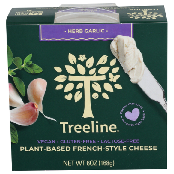 Treeline 4 Herb Garlic Soft French-Style Plant Based Cheese