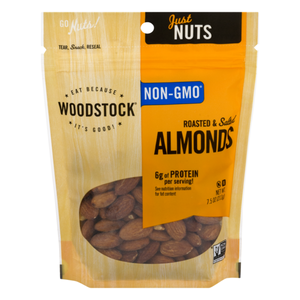 Woodstock, Roasted & Salted Almonds, 7.5oz