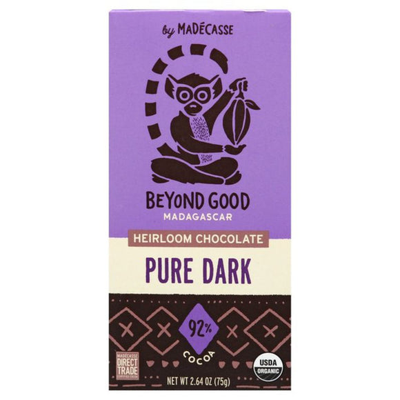 Beyond Good Madagascar Heirloom Chocolate Bar, Pure Dark, 2.64oz