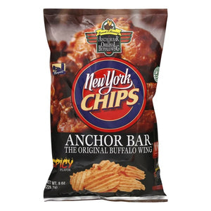 New York Chips Anchor Bar Original Buffalo Wing Chips, Spicy Flavor, 8 oz