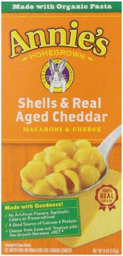 Annie's Macaroni & Cheese, Shells & Real Aged Cheddar