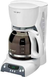 Mr. Coffee SKX20-RB Programmable Coffee Maker, 12 Cups Capacity, 900 W, White