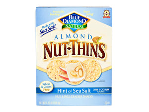 Blue Diamond Nut-Thins Hint of Sea Salt, 4.25oz box
