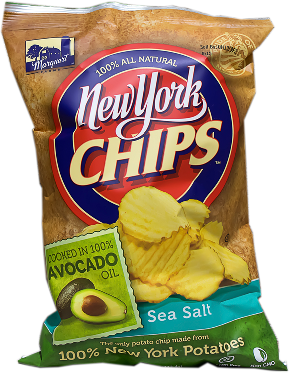 NY Chips Sea Salt Potato Chips w/Avocado Oil, 16oz